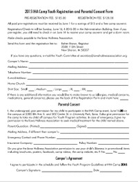 2015 Youth Registration Sheet