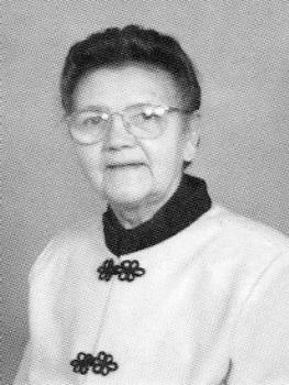 Irene Weitert during her years of ministry at Vennard College
